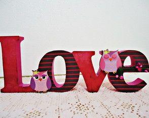 Palavras em MDF - LOVE