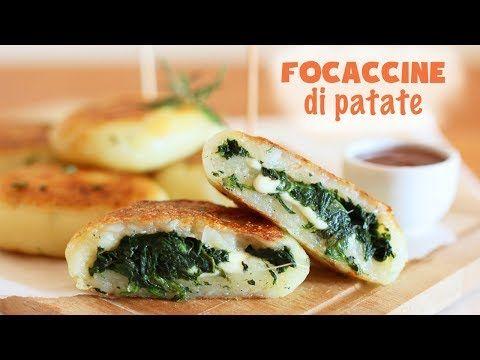 FOCACCINE DI PATATE con spinaci e formaggio | senza uova