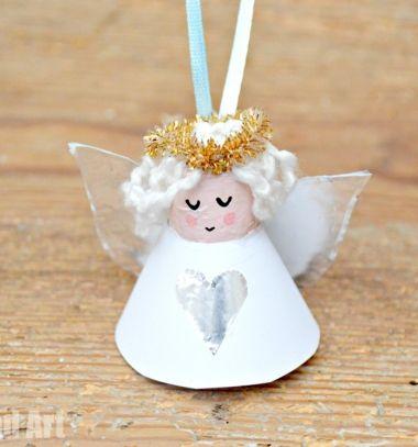 Wine cork angel Christmas tree ornament // Parafadugó angyalka karácsonyfadísz - kreatív ötlet gyerekeknek // Mindy - craft tutorial collection // #crafts #DIY #craftTutorial #tutorial