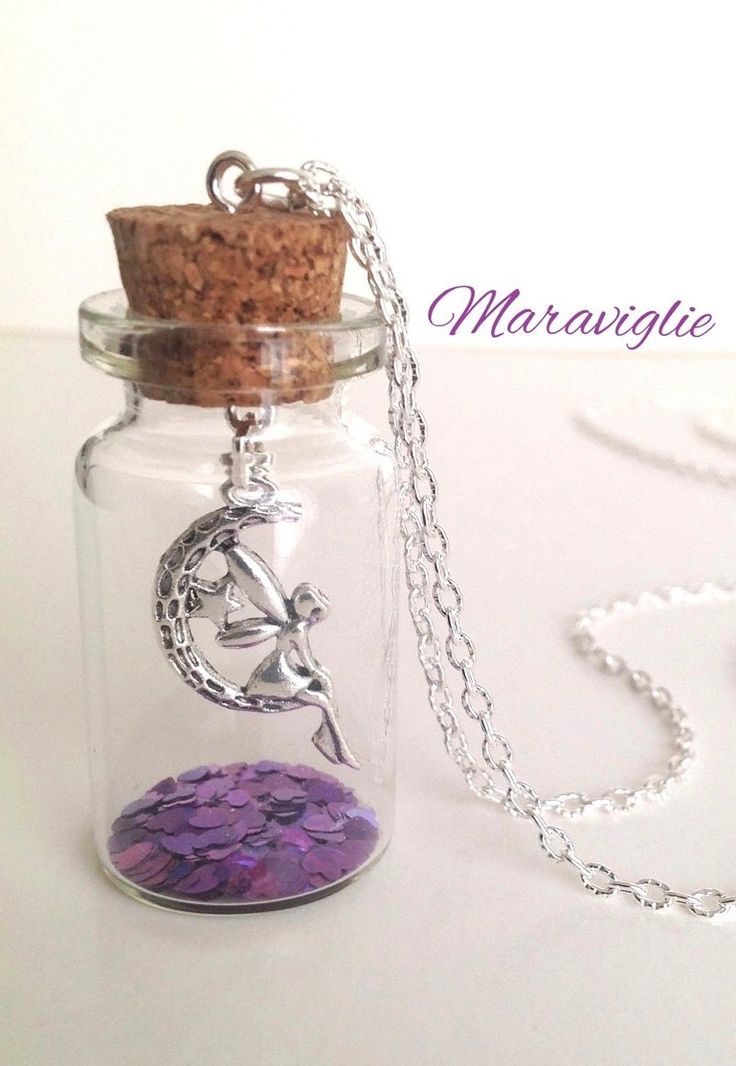 Tinkerbell in a Glass Bottle Necklace by Maraviglie
