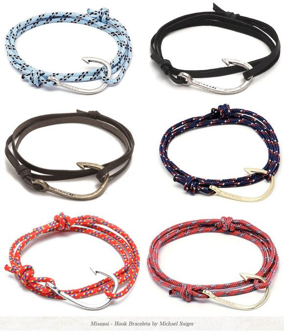 nautical hook bracelets. so cute. Just got a shit load of these in Hawaii can't wait to wear them :)