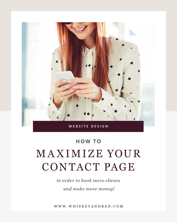 How to Maximize your website's Contact Page on your Website to book more clients  with Whiskey and Red