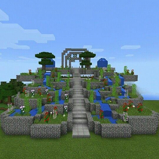 This minecraft garden looks amazing | minecraft | Minecraft garden ...