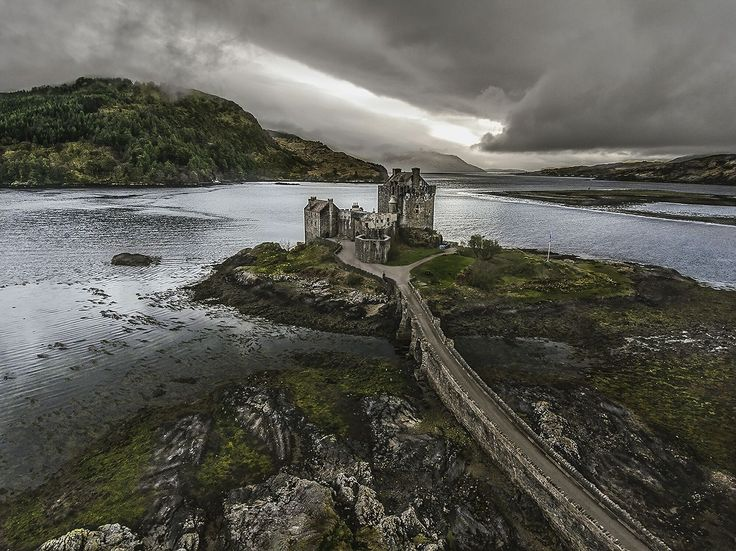 Interesting viewpoint of Eilean Donan Castle