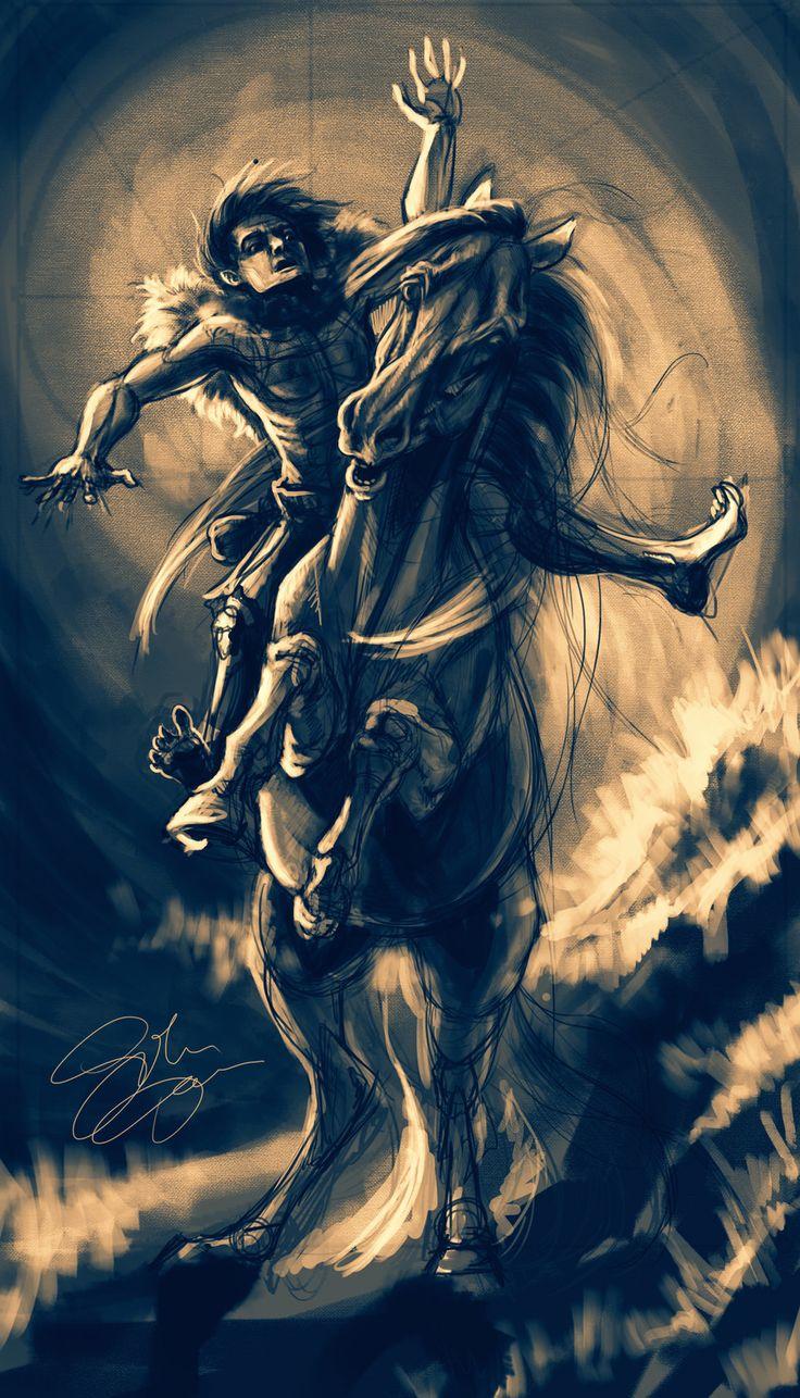Horse thief, Dominika Sikora on ArtStation at https://www.artstation.com/artwork/1aWx3