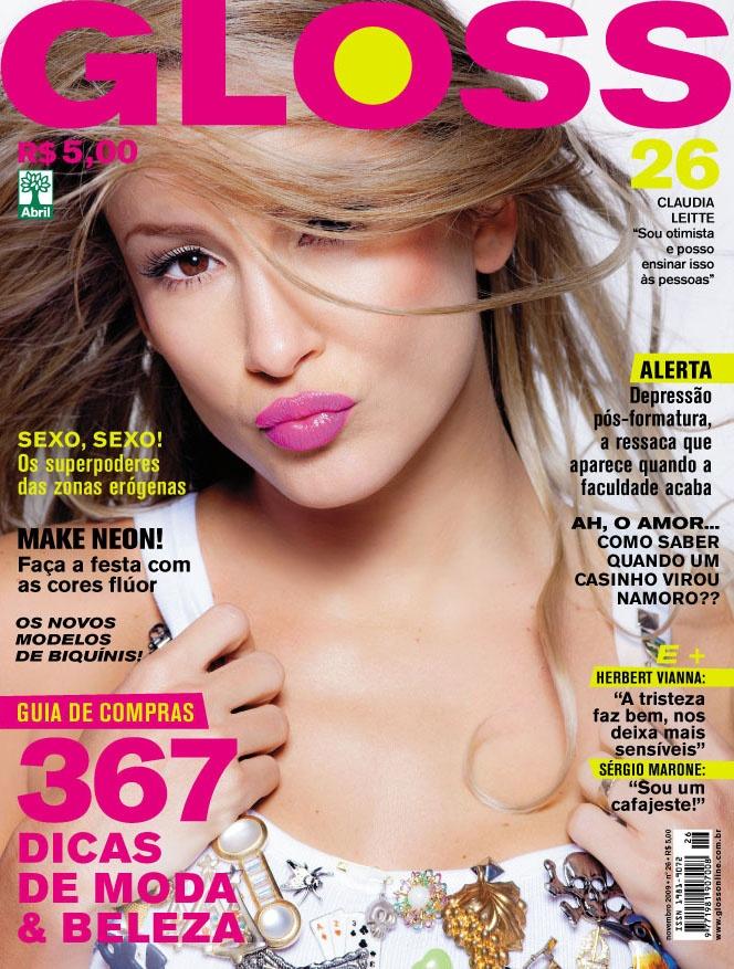 Revista Gloss - Edição Número 26 - Claudia Leitte- Nov/09