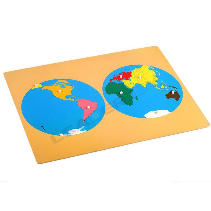 Монтессори материалы профессиональные учебные пособия качества премиум деревянные развивающие игрушки Puzzle карта мирового части 850,85
