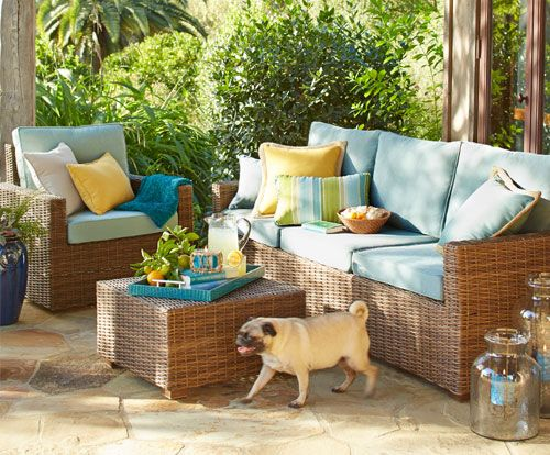 Cure cabin fever Shop Pier 1 Outdoor Furniture The Echo Beach Collection t