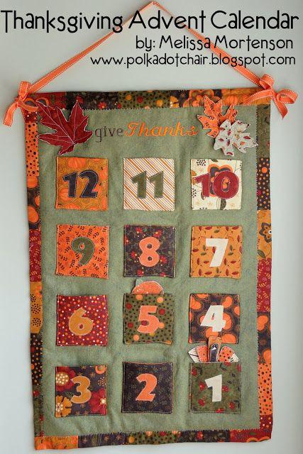 Thanksgiving Advent Calendar Tutorial