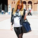 Black Melted  , massimo dutti en Blazers, zara en Bolsos, Blue velvet Madrid en Camisetas, Born Pretty Store en Leggings