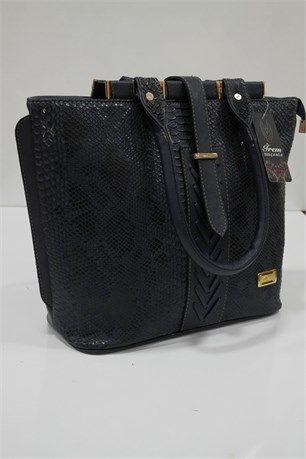 Yılan Derisi Desenli Çanta - Siyah - İrem çanta modelleri, sırt çantası, yılan derisi, tutmalı çanta, çanta markaala.com.tr #moda #fashion #diy #tesettür #çanta