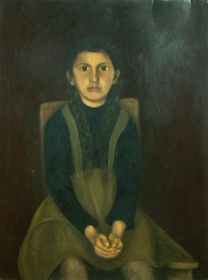 https://flic.kr/p/aqpnUs | Baba, Corneliu (1906-1997) - 1930s Portrait of a Young Girl (Private Collection) | Oil on cardboard;    49.5 x 66.3 cm.  Corneliu Baba was a Romanian painter, primarily a portraitist, but also known as a genre painter and an illustrator of books. Having first studied under his father, the academic painter Gheorghe Baba, Baba studied briefly at the Faculty of Fine Arts in Bucharest. His first public exhibition was in 1934 in the town of Băile Herculane; this led to…