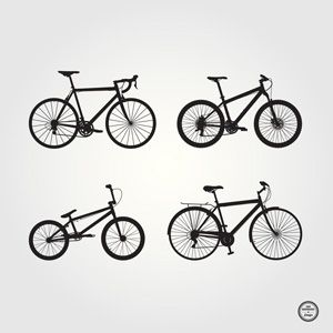 Free bicycle silhouettes