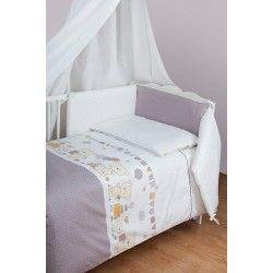 Parure de lit bébé avec tour de lit - Teddy Bear - 3 pièces
