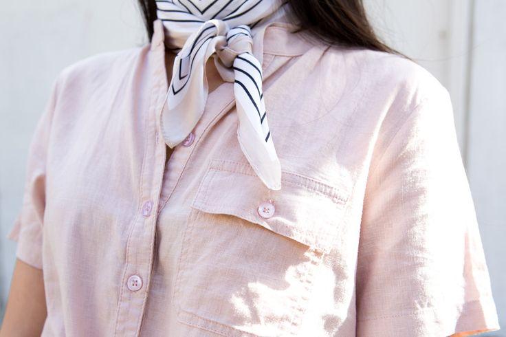 Stripe Neck Scarf - Blossom & Glow