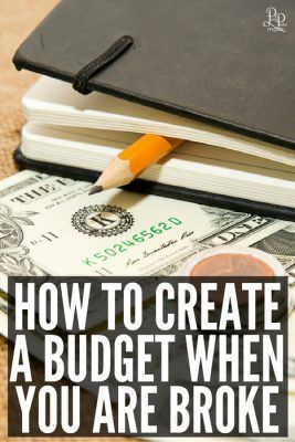 How to create a budget when you are broke. You can still do it - you just need to look at it a bit differently.
