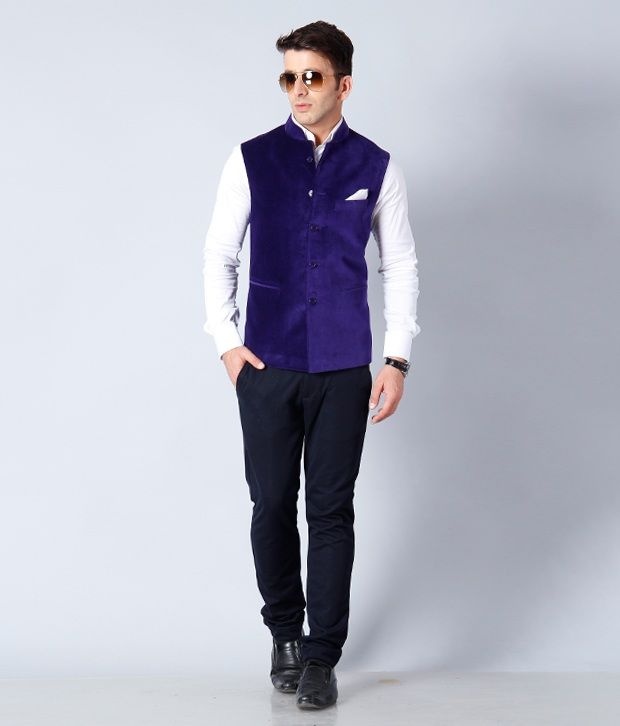 My Blue Nehru Jacket