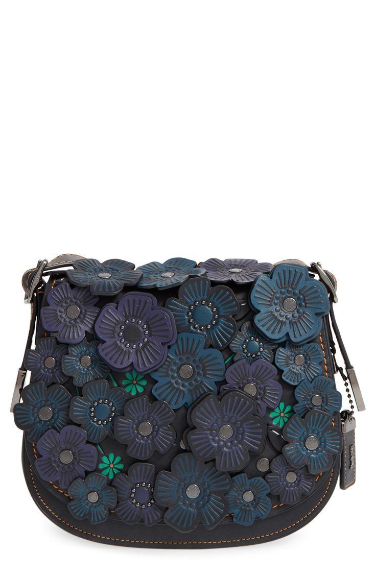 COACH 1941 '23' Flower Appliqué Leather Saddle Bag