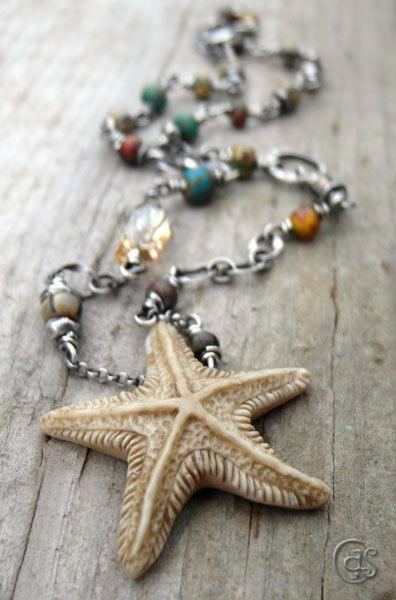 Beach Girl Necklace Nautical Jewelry Sterling by ArtandSoulJewelry