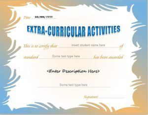 Extracurricular Activity Award Certificate Template For MS Word DOWNLOAD At  Http://certificatesinn.  Award Word Template