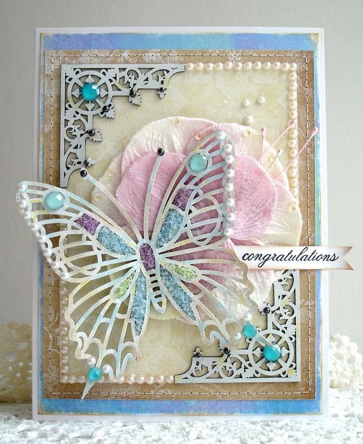 Фото бабочек из открытки, 3-д своими руками