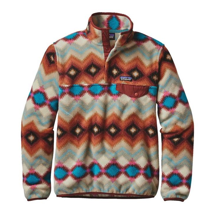 Women's Light Weight Synchilla SNAP-T pull Over, Timber Twist: Cinder Red (TTCR) - Medium