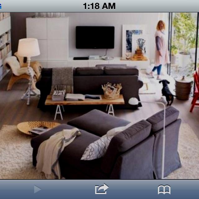 IKEA 2011 Catalog For Living Room Design Ideas   Red Office Desk In A  Living Room