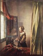 Girl Reading a Letter at an Open Window 1657  by Jan Vermeer Van Delft