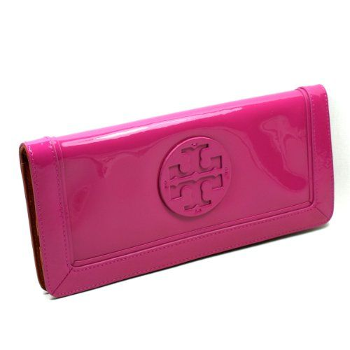 Tory Hibiscus Patent Leather Suki Wallet/ Clutch (Pink) #19129113
