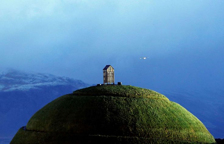 The Thufa hill in Reykjavik, Friday, Oct. 28, 2016. Parliamentary elections will be held in Iceland on Oct. 29, 2016, more than 250,000 voters are called to elect the new parliament, 63 members of the Althing parliament.(AP Photo/Frank Augstein)