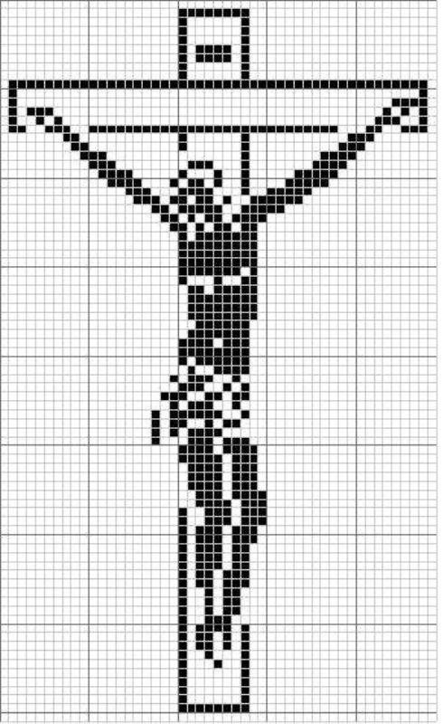 Crucifix cross stitch Catholic