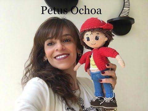 Que material ocupo para tejer muñeco Mauricio amigurumi By Petus - YouTube