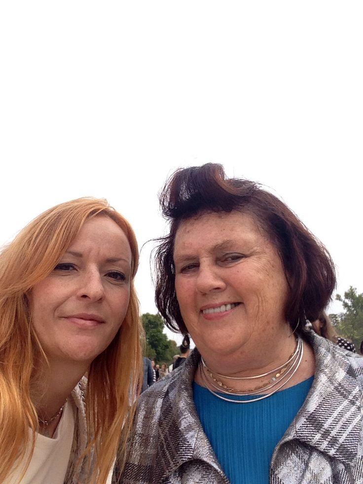 With Suzy Menkes