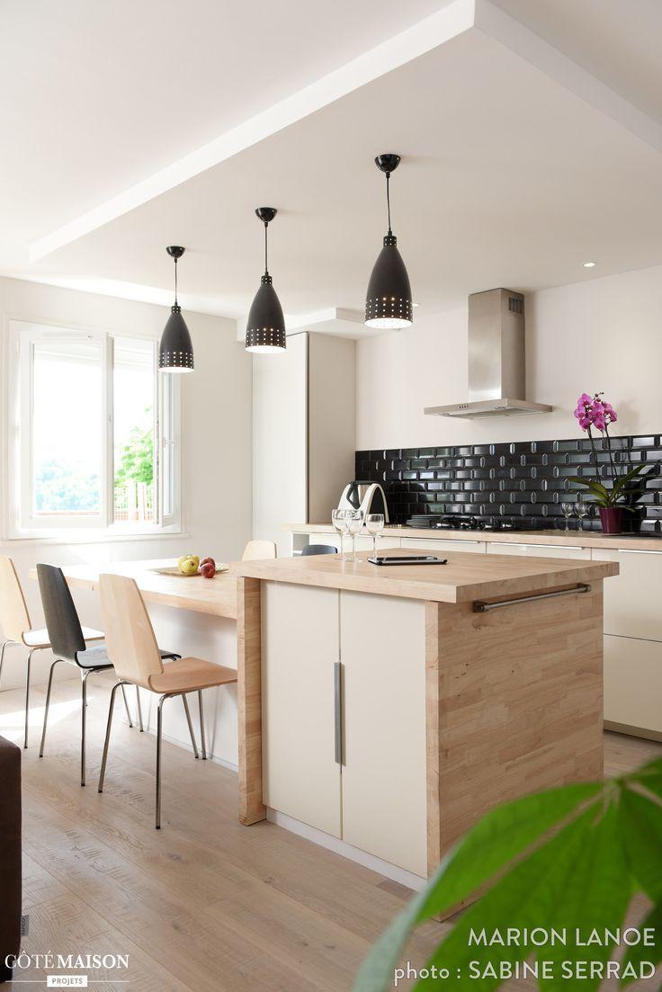 Modern Kitchen Design  : Rénovation d'un appartement à Fontaines sur Saone Marion Lanoë  Côté
