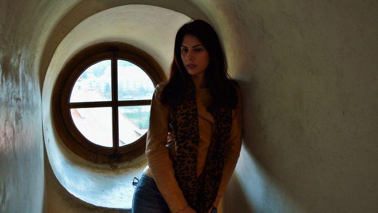 At the Krumlov castle