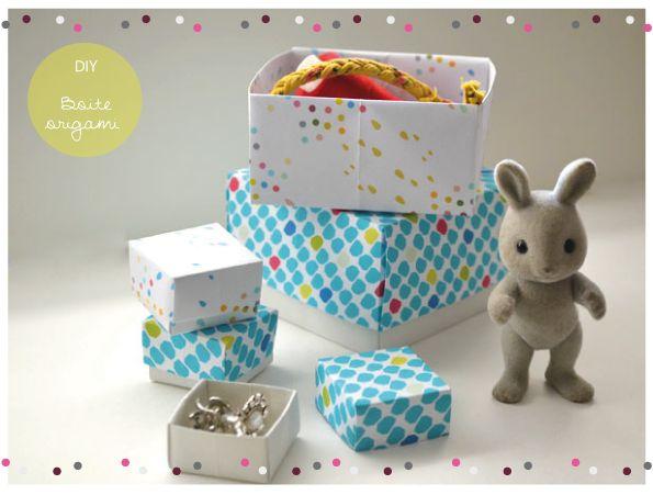 leine doosjes van origami, leuk om juweeltjes en hebbedingetjes op te bergen! ROSE ET VERT: DIY boite de rangement Origami