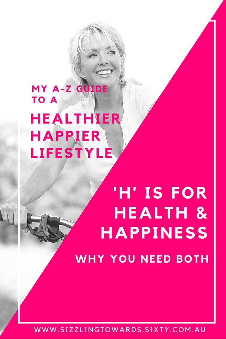 Health and Happiness go 'hand in hand' for an active and fulfilling lifestyle.
