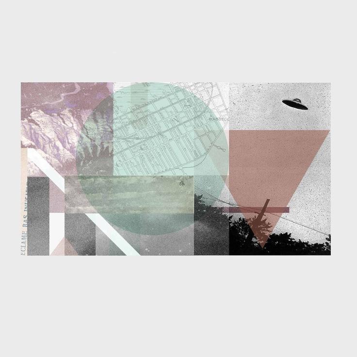 Geometric Collage 8x10 Print Minimalist Modern by calamaristudio