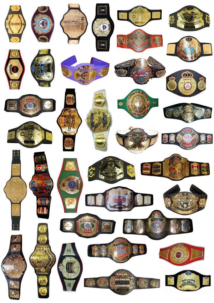lots of wrestling belts