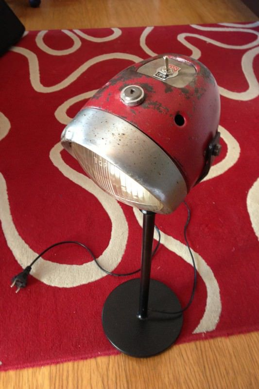 Let an old headlight continue to shine by turning it into a retro looking lamp with tons of vintage charm.