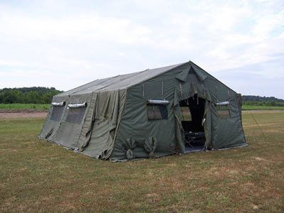 The Temper tent (Tent Extendable Modular Personnel) is a modular, soft-walled, aluminum framed supported tent; it is designed to expand exponentially and set up in multiple configurations. The most common Temper tent configuration is the Temper Tent (20' x 24'), billeting version.The Temper tent can be extended to a length of eight-foot increments and can be erected in 40 minutes; minimal manpower required- five personnel max. The Temper (20' x 24') has a floor area of  640 sq. ft. The…