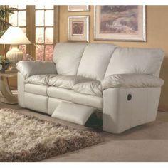A recliner, A sofa AND a Full size sleeping option - Omnia Furniture El Dorado Leather Sleeper Sofa