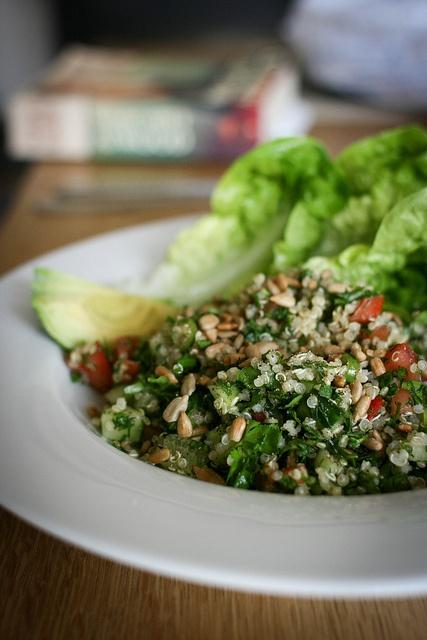 Herby quinoa salad