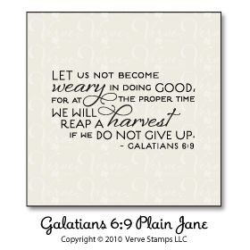 Galatians 6:9 Plain Jane