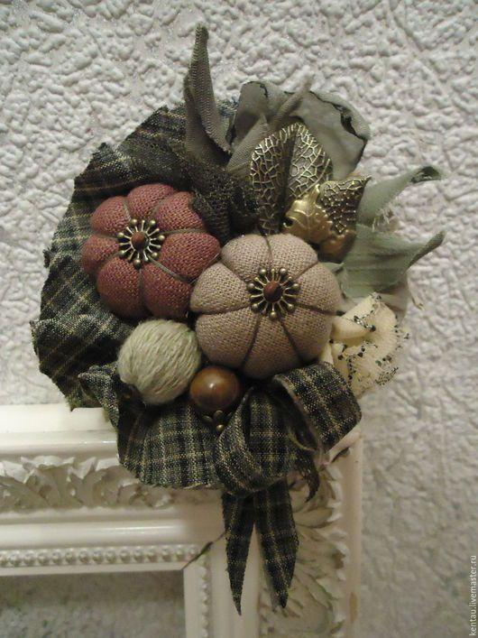 """Броши ручной работы. Ярмарка Мастеров - ручная работа. Купить Брошь """"Осенний урожай"""". Handmade. Комбинированный, текстильная брошь"""