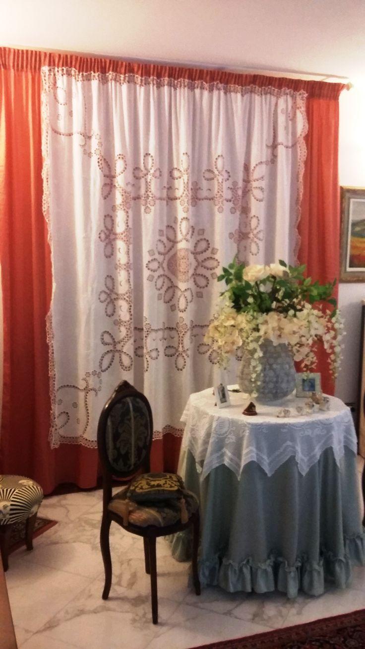 tenda arricciata in villa a Donoratico