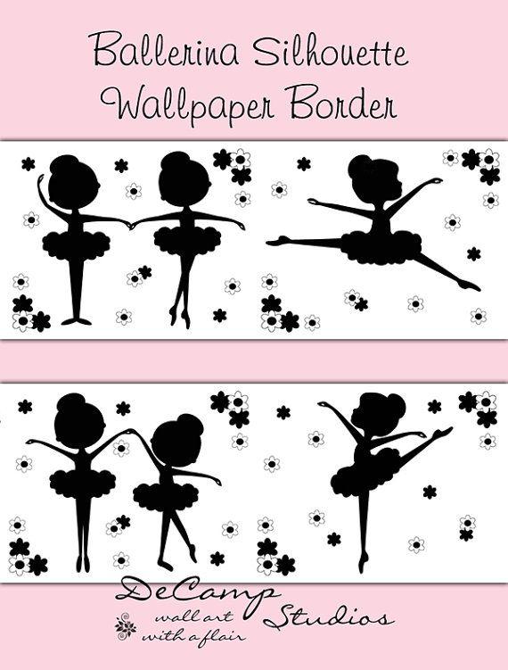 bathroom wallpaper border dancing - photo #45