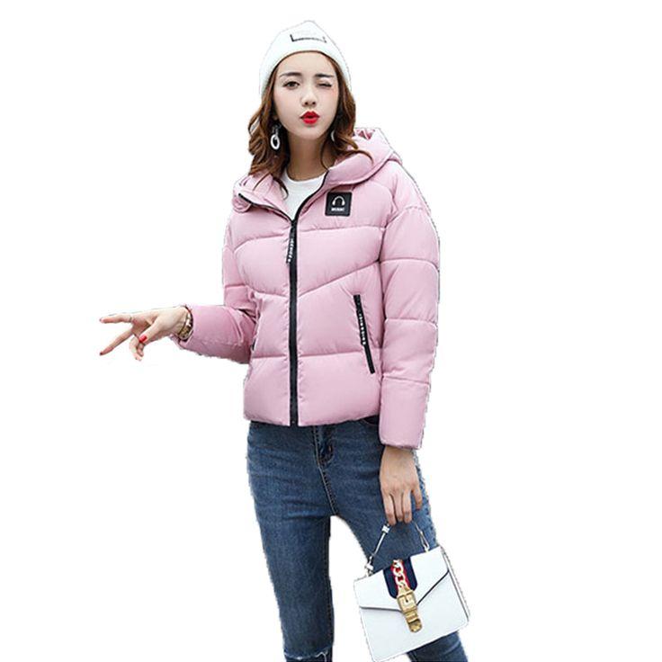 Women Elegant Short Parkas Thick Zippers Womens 2017 Autumn Winter Jackets Parcas Para Mujer Ladies Coats Casual Fashion Slim #Affiliate