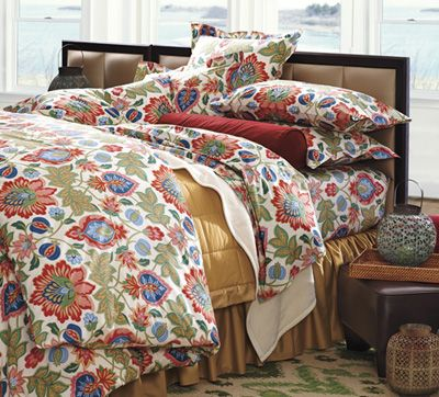 Colorful Cotton Percale Holland Bedding by #cuddledown Comforter