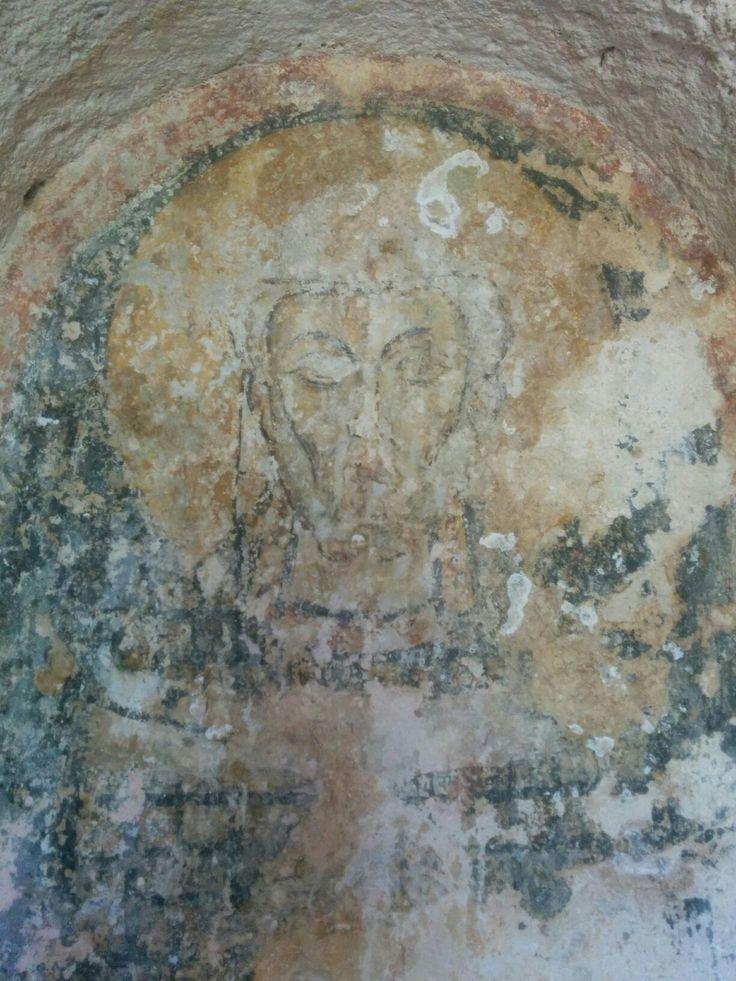 Santo Vescovo a #lamadantico XIII secolo   *** Saint bishop of XIII century in cave church